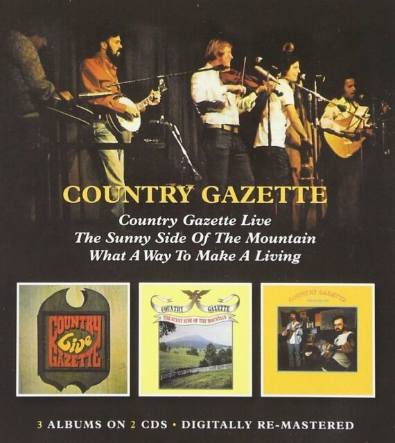 Country Gazette Live/Sunny Side..Mountain/What A Way To Make A Living 2-CD NEW