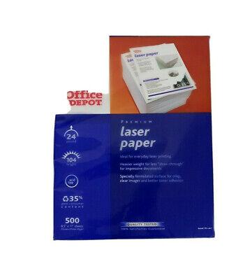 New Office Depot Premium Laser Print Paper White 24lb 98-bright 500 Sheets