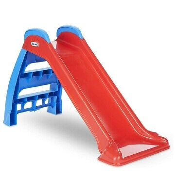 New Kids Folding Plastic Slide Fun Playground Indoor Outdoor Girls Boys Toddler