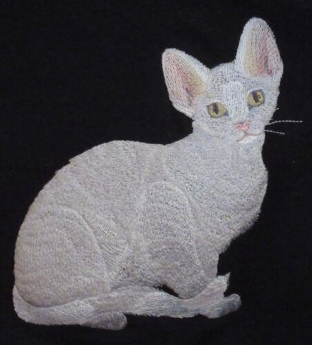 Embroidered Sweatshirt - Devon Rex Cat C7919 Sizes S - XXL