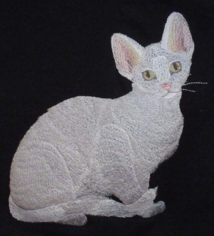 Embroidered Fleece Jacket - Devon Rex Cat C7919 Sizes S - XXL