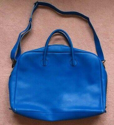Isaac Reina Bond satchel messenger bag in cyan