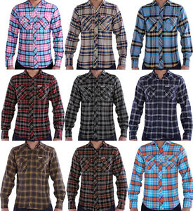 Soul star men 39 s flannel slim fit check shirts 12 colours for Mens slim fit flannel shirt