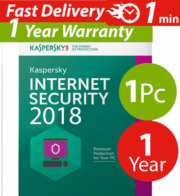 Kaspersky internet security 2017 ( 1 ) pc mac android ( 1 ) year  for sale  Shipping to South Africa