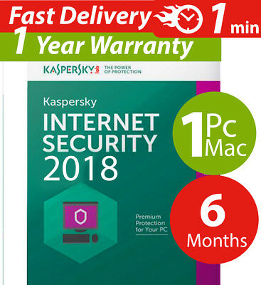 Used, Kaspersky internet security 2017  ( 1 ) Pc-mac-android ( 6 ) Months  Worldwide for sale  Shipping to South Africa
