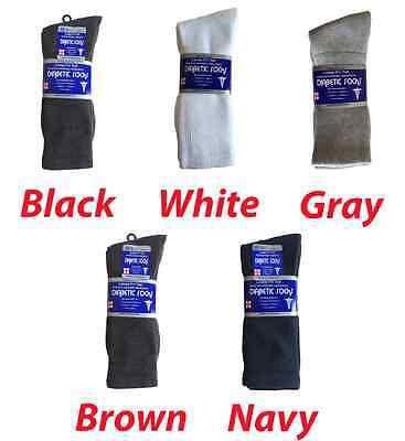 3 Pairs Diabetic CREW circulatory Socks Health Men's & Women's  Cotton ALL SIZE Cotton Diabetic Crew Socks