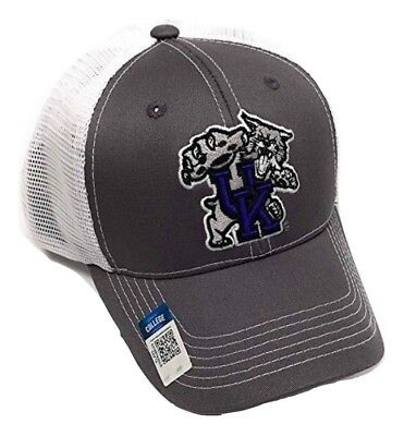 Kentucky Wildcats Adjustable Gray Mesh Snapback Cap NCAA Hat Kentucky Wildcats Ncaa Mesh