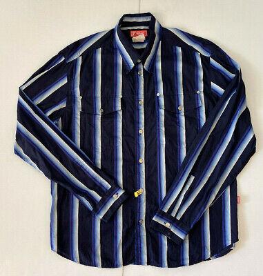 VERSACE jeans couture mens shirt XXXL Western long sleeve button up L