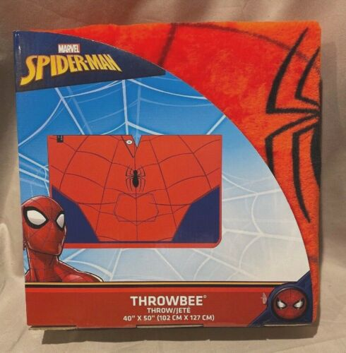 "Marvel Spider-Man Throwbee 40"" X 50"" Super Soft Youth Blanket Poncho  NEW"