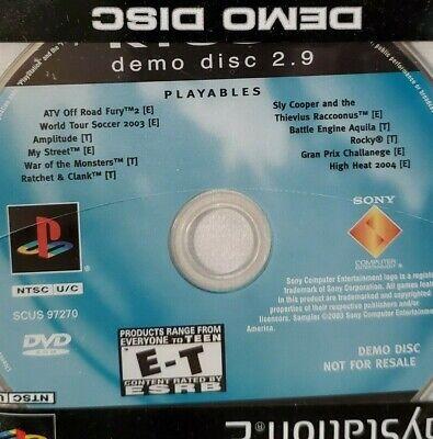 PlayStation 2 Kiosk Demo Disc 2.9 2003 Sony PS2 Retail Trade SEALED RARE
