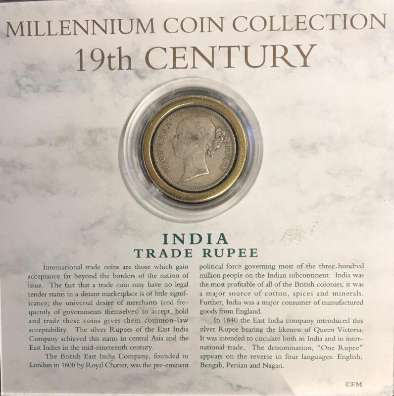 Millennium Coin Collection 19th Century India Trade Rupee (1840) Set 20