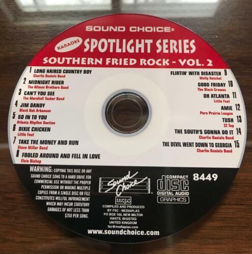 SOUND CHOICE KARAOKE SPOTLIGHT CD+G - 8449 - SOUTHERN FRIED ROCK VOL 2- CDG