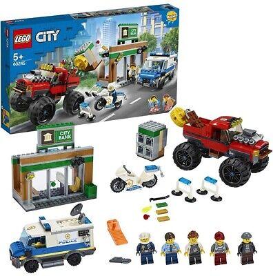 LEGO CITY RAPINA BANCA SUL MONSTER TRUCK DAI 5 ANNI IN SU OTTIME CONDIZIONI