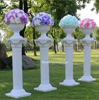 Flower Pedestal Pot Urn Roman Column for hire