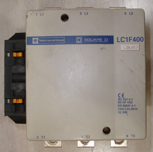 Refurbished Square D Telemecanique 420 Amp 600V LC1-F400 Contactor Ships Today