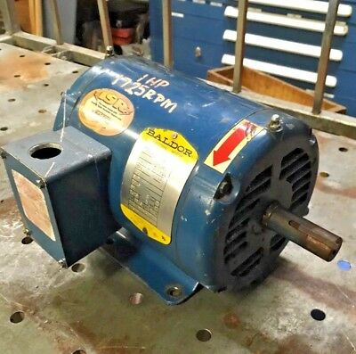 Baldor 1hp 3ph 1725rpm Quincy Climate Control Air Compressor 127466f036 143t