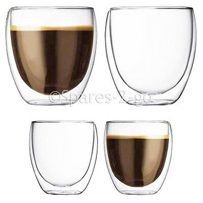 Double Walled Thermal Shot Coffee Glass Tumblers Espresso Glasses Large Small