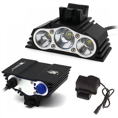 SolarStorm 12000LM Bike 3x CREE XM-L T6 LED Bicycle Lamp Outdoor Headlight Set