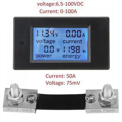100a Dc Digital Power Kwh Watt Meter Volt Amp Voltmeter Ammeter Monitor Module