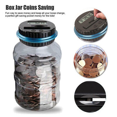 Counting Piggy Bank (Clear Digital Piggy Bank Coin Savings Counter LCD Counting Money Jar Change)