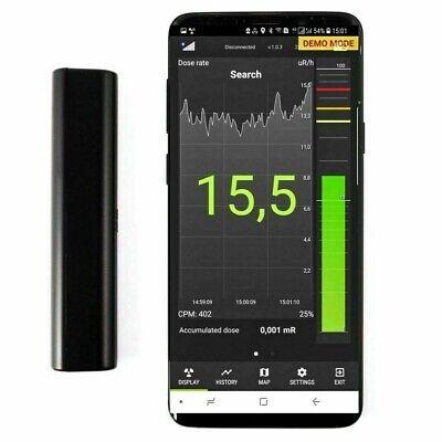 Atom Fast Scintillation 8850 Crystal Radiation Detector Dosimeter Bluetooth