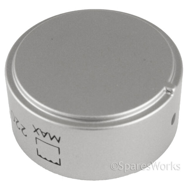 Hotpoint Oven Cooker Hob Control Knob Genuine Temperature Thermostat Silver Dial