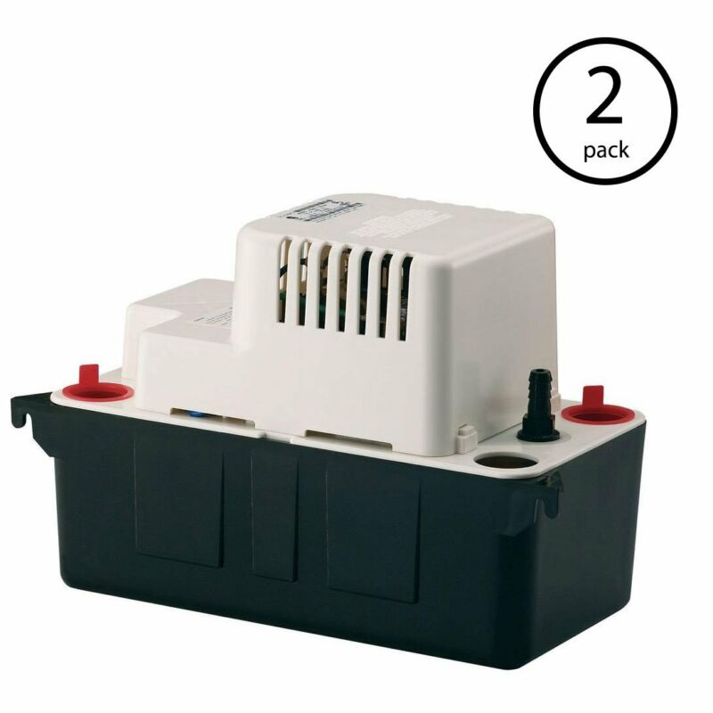 Little Giant VCMA-20UL 115V 80 GPH Vertical Centrifugal Condensate Pump (2 Pack)