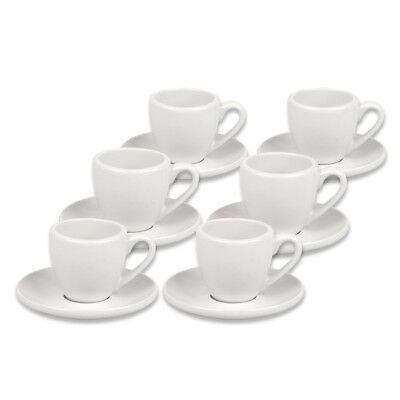 6er Set Coffee Bar Espresso Espressotasse dickwandig mit Untertasse 12teilig