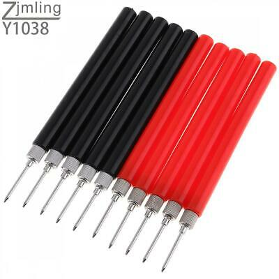 10pcs Spring Test Probe Tip Wire Connector Test Lead Pin For Multimeter