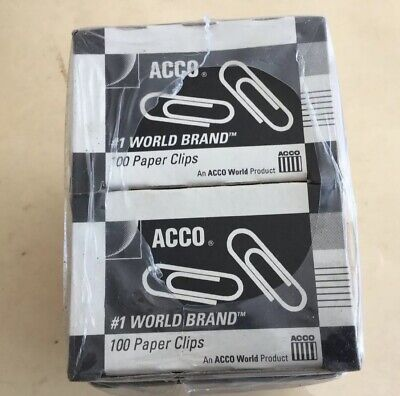 Acco Paper Clips 72380  1000 Usa 10 Boxes Of 100