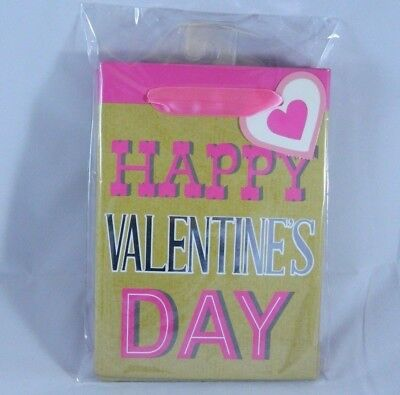 4-Pack of HAPPY VALENTINES DAY Small Gift Bags Sack](Valentines Day Gift Bags)