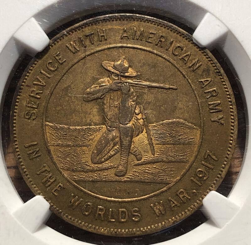 1917 So Called Dollar HK-893 World War I Good Luck NGC MS 61