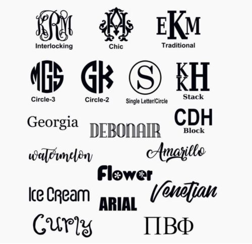Home Decoration - Monogram Custom Made Vinyl Decal • Custom & PERSONALIZED FOR YOU