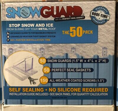 50 Pack Mini Snow Guard 50-mini Stop Ice Falling Metal Roof Snowguard