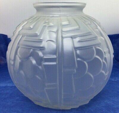An impressive French Handmade Bulbous Glass Vase