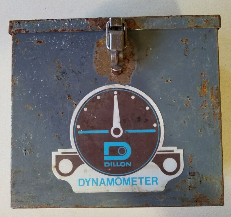 "Rusty Gold Find- DILLON DYNAMOMETER Steel Box CASE ONLY Used for 5"" 10,000lb 10K"