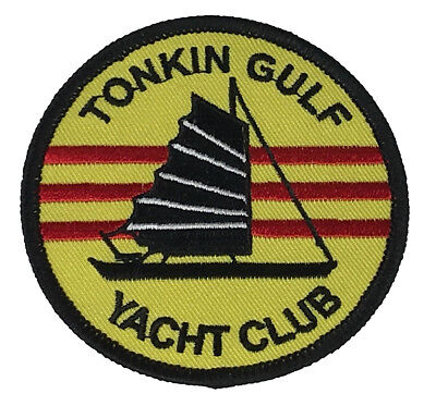 USN NAVY TONKIN GULF YACHT CLUB VIETNAM VETERAN PATCH SEVENTH 7TH FLEET JUNK