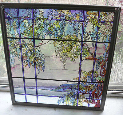 Tiffany Style Wisteria  OYSTER BAY- Glass Panel  MMA Metropolitan Museum of Arts