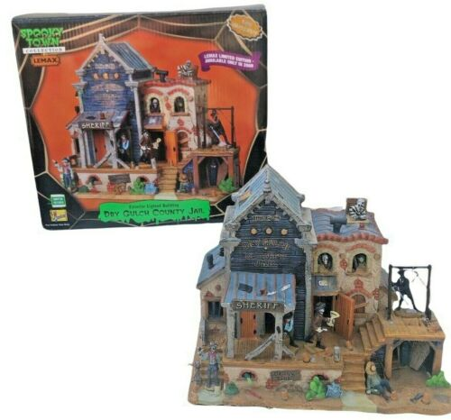 Lemax Spooky Town Dry Gulch County Jail Halloween Village Works GREAT