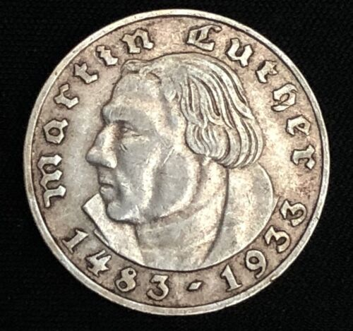 Germany - Third Reich 2 Reichsmark 1933 A KM79 Martin Luther