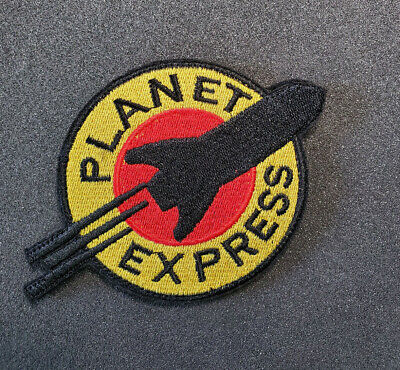 Halloween Express Logo (Futurama Planet Express Logo embroidered Patch 4 inches wide with Hook &)