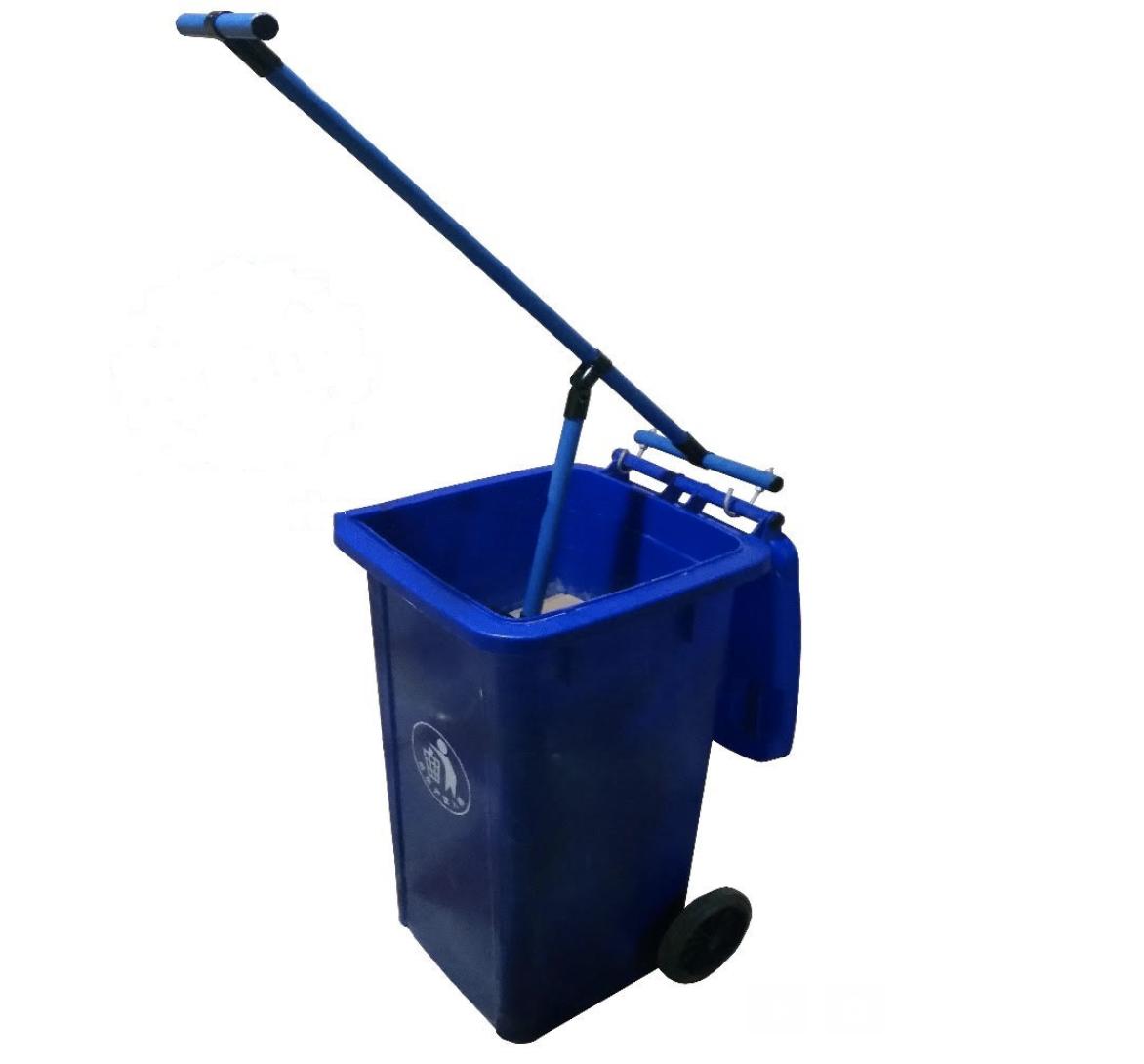 Manual Trash Compactor Waste bin compressor New. Metal frame