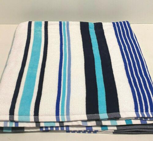 "Destination Summer X-Large Beach Towel Murphy Stripe Blue Beach 72"" L x 36"" W"
