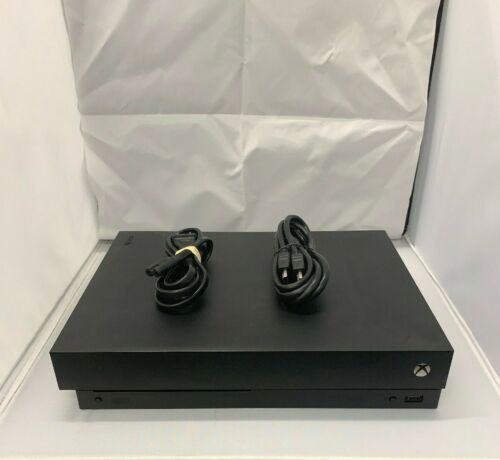 Microsoft Xbox One X 1TB 4k Blu Ray Black Console HDMI and Power Cord