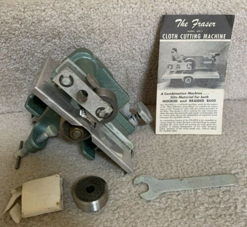 Vintage Harry M Fraser Cloth Fabric Cutting Machine Model 500 w/ #4 & #3 Cutters