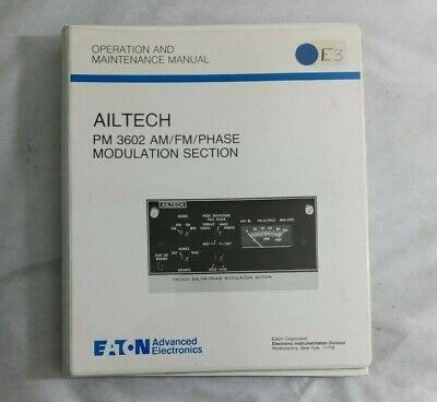 Ailtech Pm 3602 Amfmphase Modulation Section Operation Maintenance Manual
