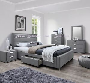 new 4 DRAWER BEDS (bedroom) PALE GREY COLOUR ezi-pay $10p/w Bundall Gold Coast City Preview
