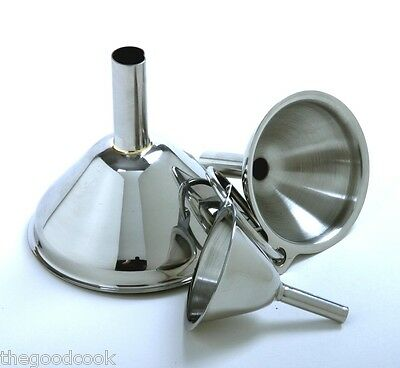 MINI Kitchen Funnel Set of 3 Funnels 18/10 NSF Stainless Steel Sm Med Lrg Norpro