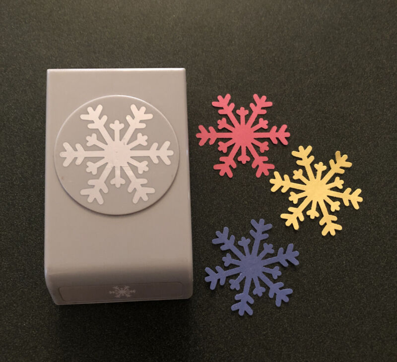 EK Success Arctic Snowflake Craft Punch XL Christmas Card Design Holiday Album