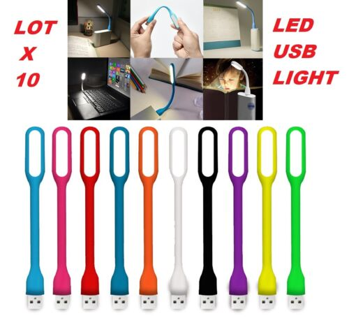 new lot 10 USB LED Light Lamp for Computer Keyboard Laptop Notebook power bank